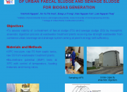 Anaerobic Co- digestion of urban faecal sludge and sewage sludge for biogas generation