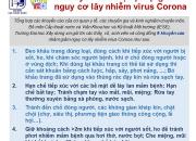 Khuyến cáo biện pháp giảm nguy cơ lây nhiễm virus Corona