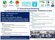 Thông báo Hội thảo quốc tế lần thứ 7 về Xử lý nước thải sinh hoạt theo mô hình phân tán ở châu Á.